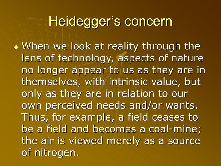Heidegger's concern