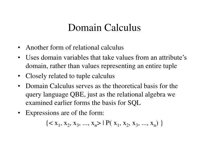 Domain Calculus