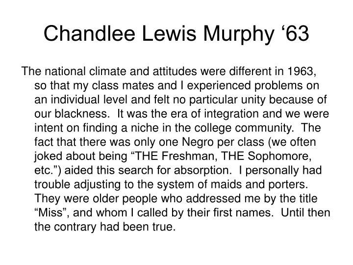 Chandlee Lewis Murphy '63