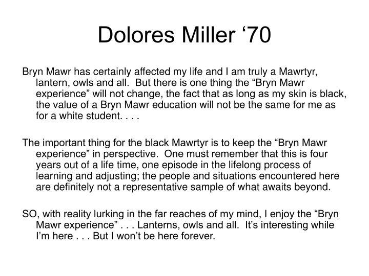 Dolores Miller '70