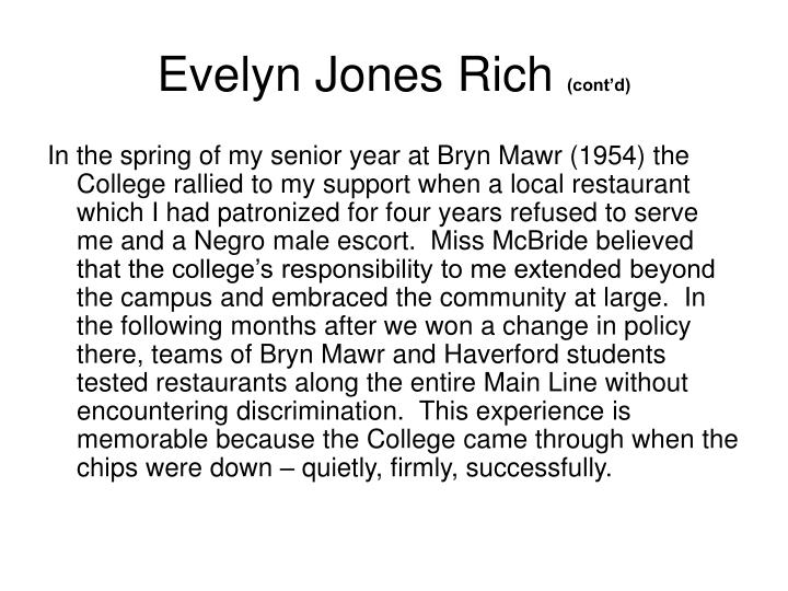 Evelyn Jones Rich
