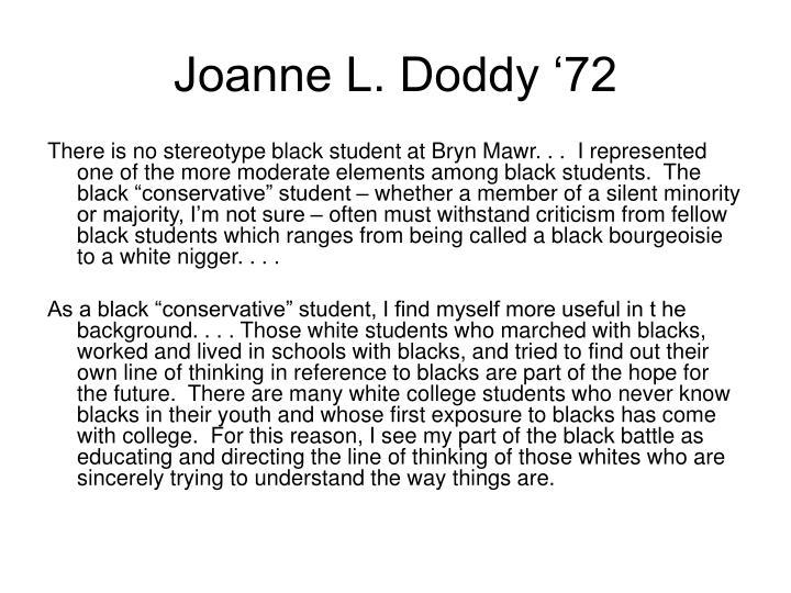 Joanne L. Doddy '72