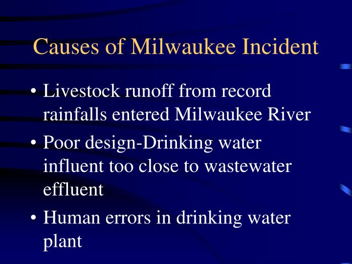Causes of Milwaukee Incident