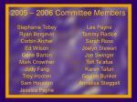 2005 2006 committee members