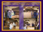 december service project utah food bank