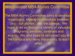 westminster mba alumni committee