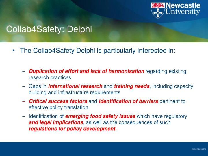 Collab4Safety: Delphi