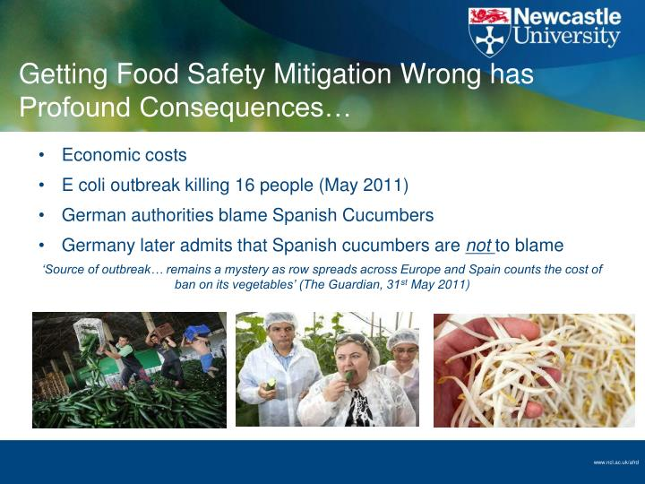 Getting Food Safety Mitigation Wrong has Profound Consequences…