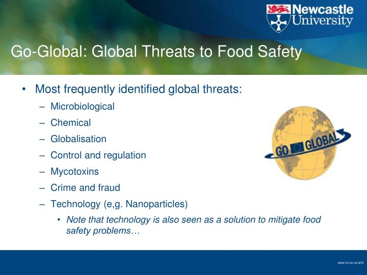 Go-Global: Global Threats to Food Safety