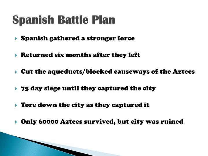 Spanish Battle Plan