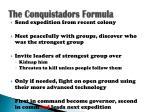 the conquistadors formula