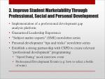 3 improve student marketability through professional social and personal development