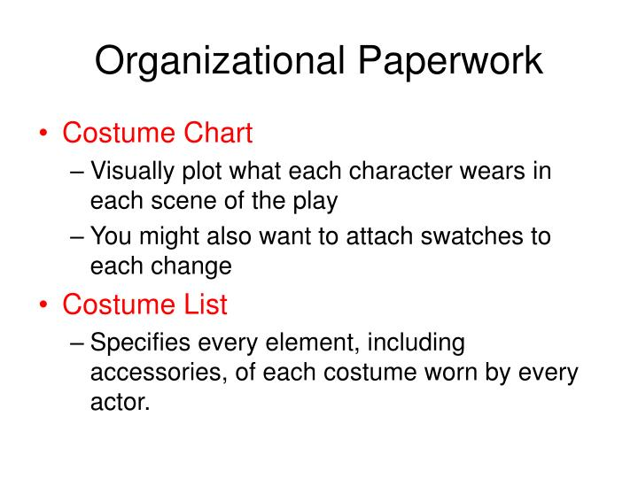 Organizational Paperwork