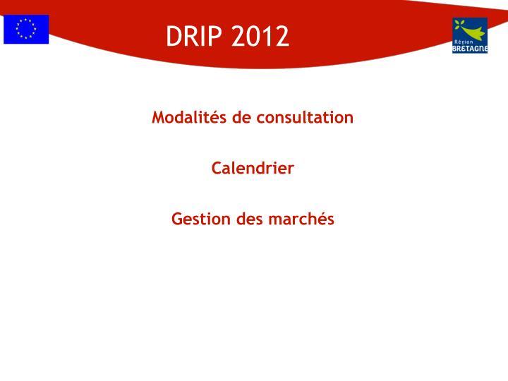 DRIP 2012