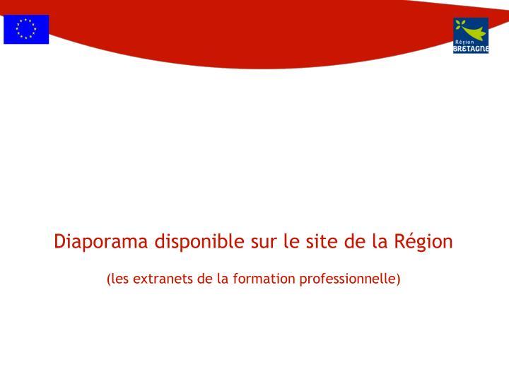 Diaporama disponible sur le site de la Région