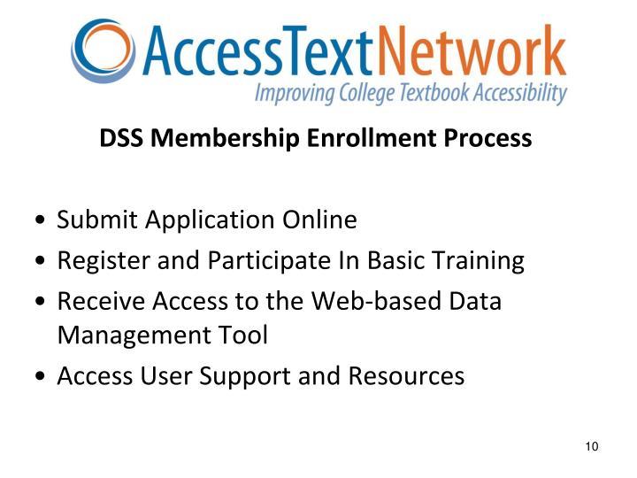 DSS Membership Enrollment Process