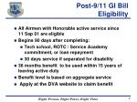 post 9 11 gi bill eligibility