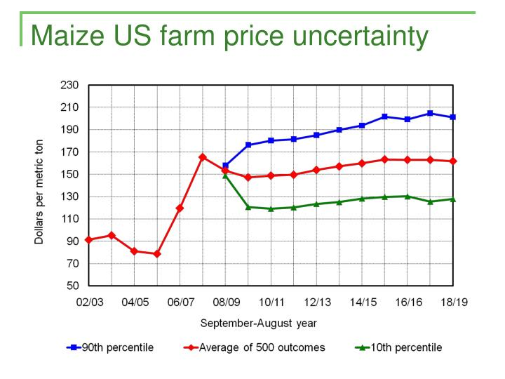 Maize US farm price uncertainty