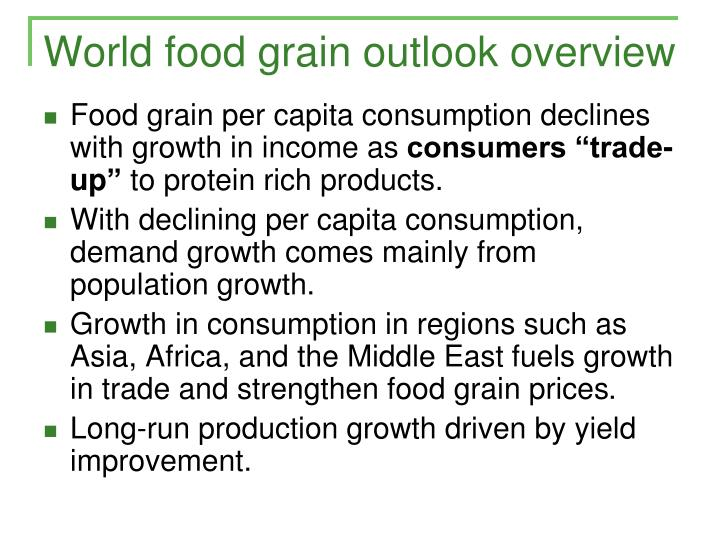 World food grain outlook overview