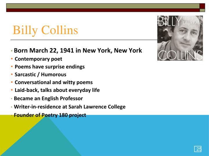 Presentation for billy collins