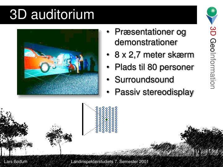 3D auditorium