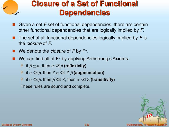 Closure of a Set of Functional Dependencies
