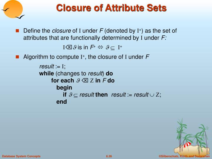 Closure of Attribute Sets