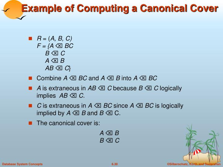 Example of Computing a Canonical Cover