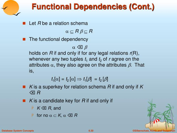 Functional Dependencies (Cont.)