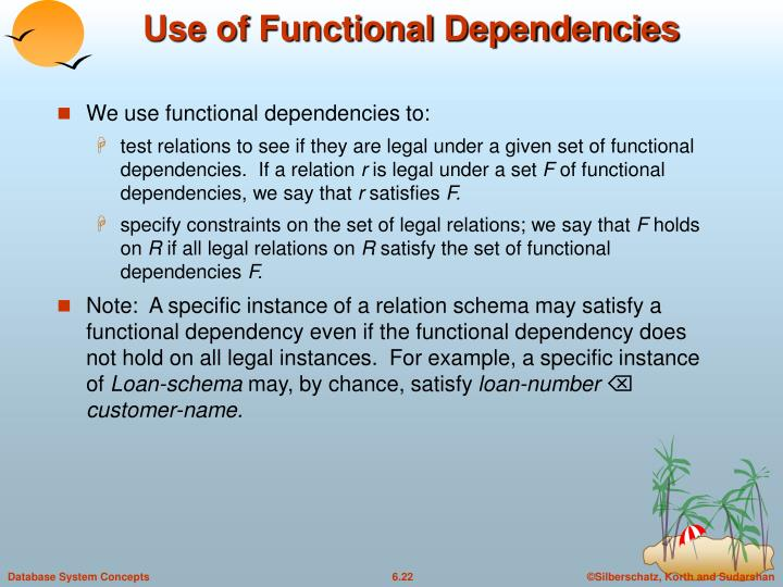 Use of Functional Dependencies