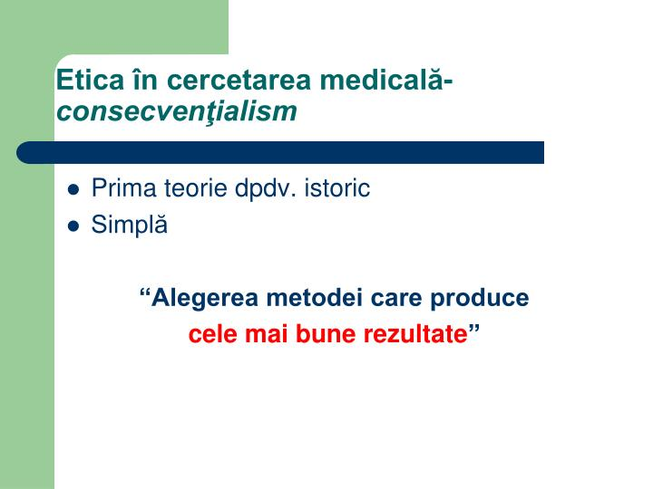 Etica în cercetarea medicală-