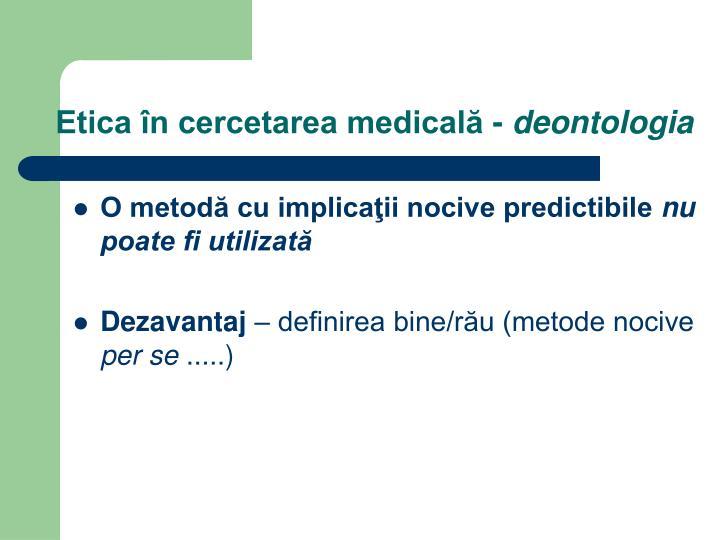 Etica în cercetarea medicală -