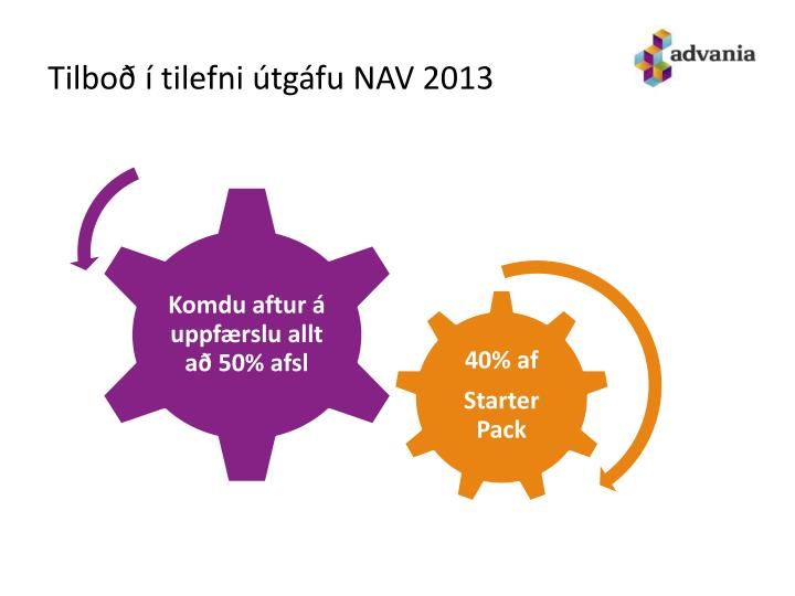 Tilboð í tilefni útgáfu NAV 2013