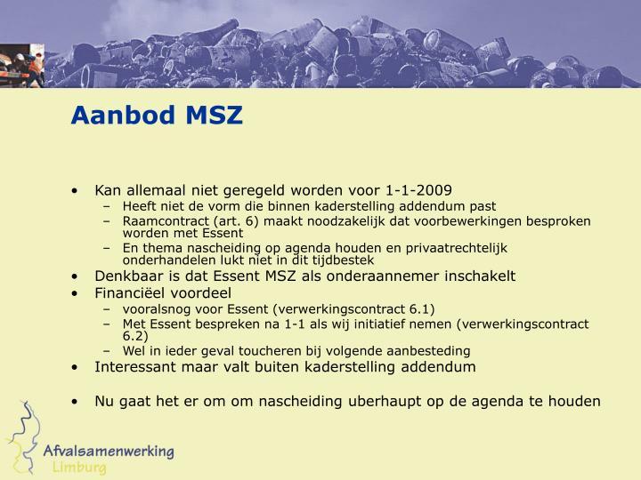 Aanbod MSZ
