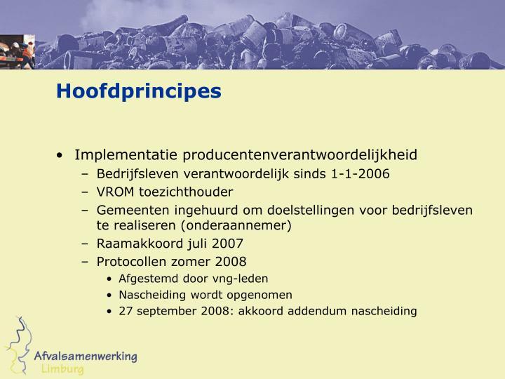 Hoofdprincipes