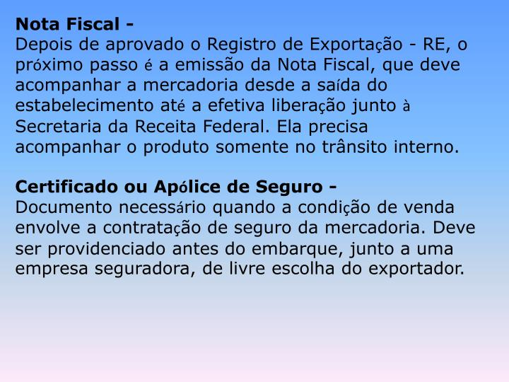 Nota Fiscal -