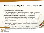 international obligations key achievements5