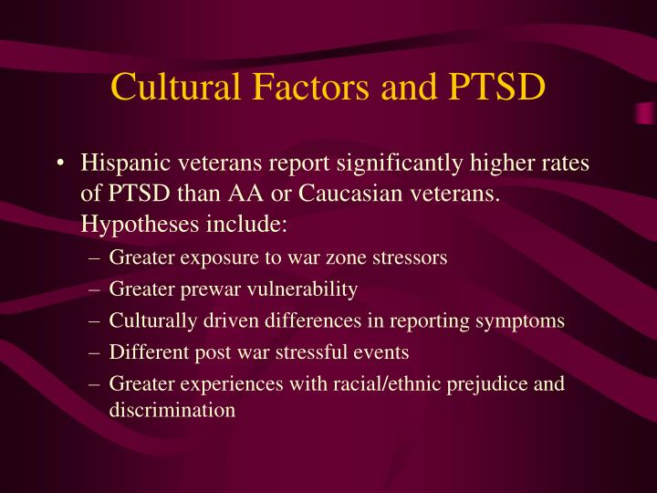 Cultural Factors and PTSD
