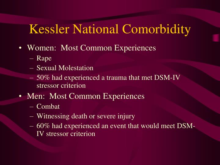 Kessler national comorbidity