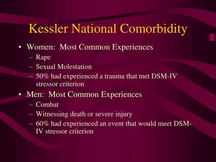Kessler National Comorbidity