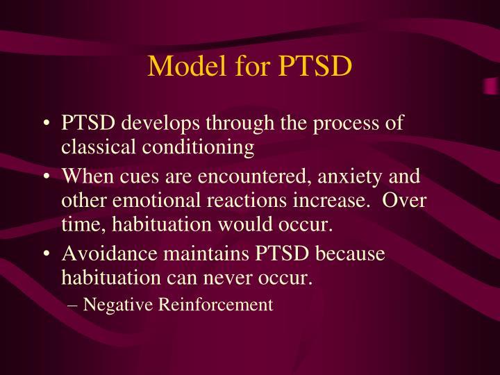 Model for PTSD
