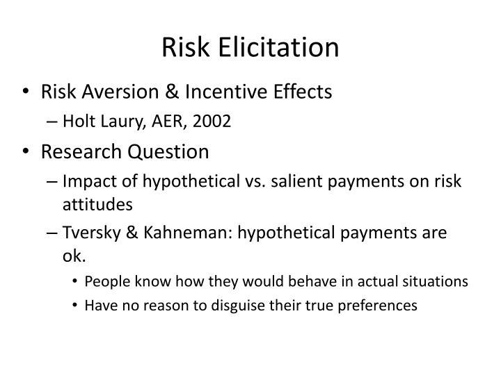 Risk Elicitation