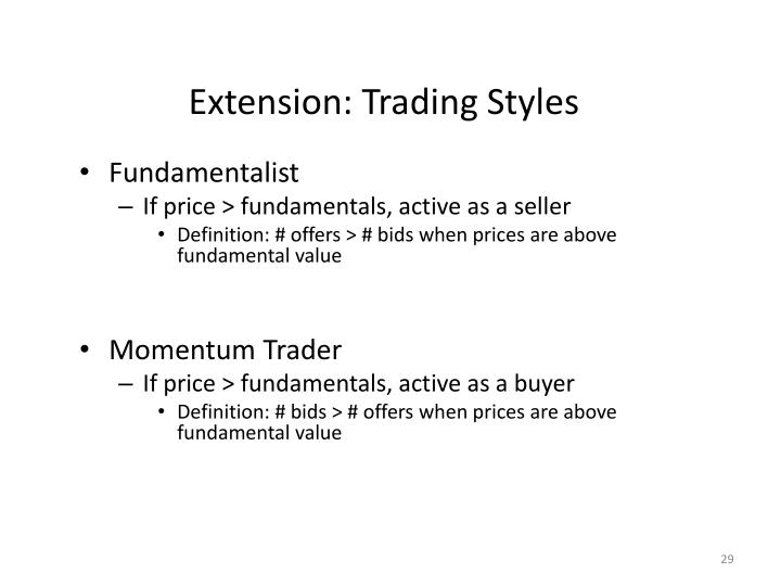 Extension: Trading Styles