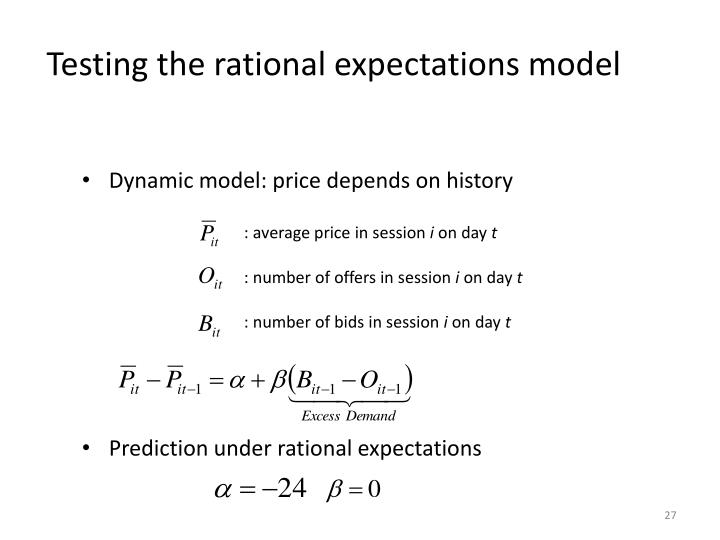 Testing the rational expectations model