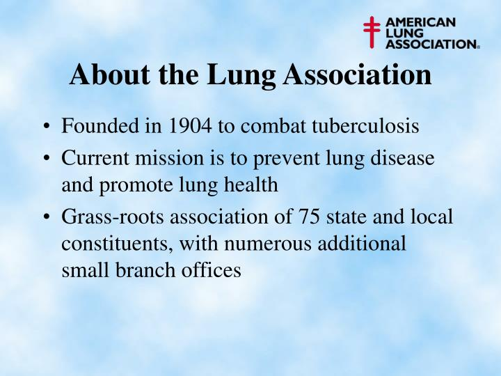 About the lung association