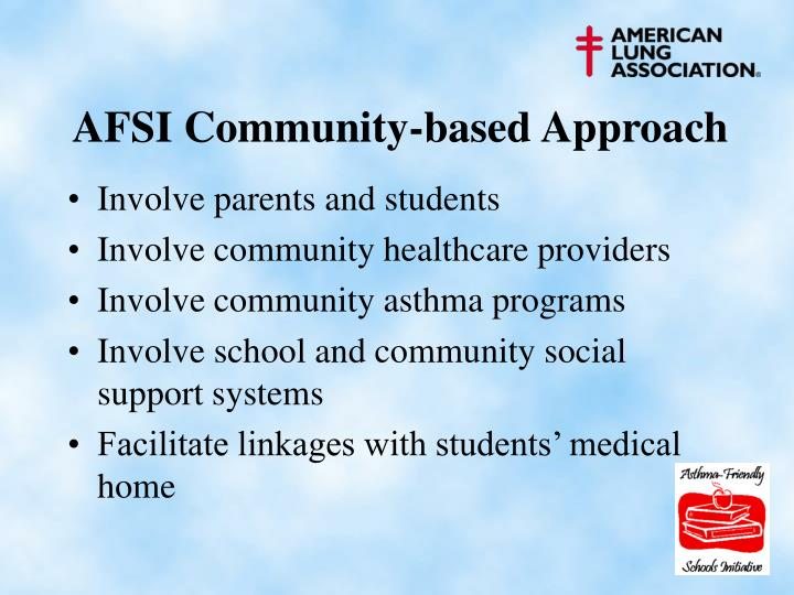 AFSI Community-based Approach