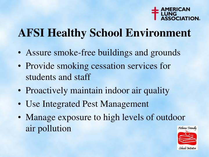 AFSI Healthy School Environment