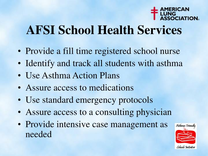 AFSI School Health Services