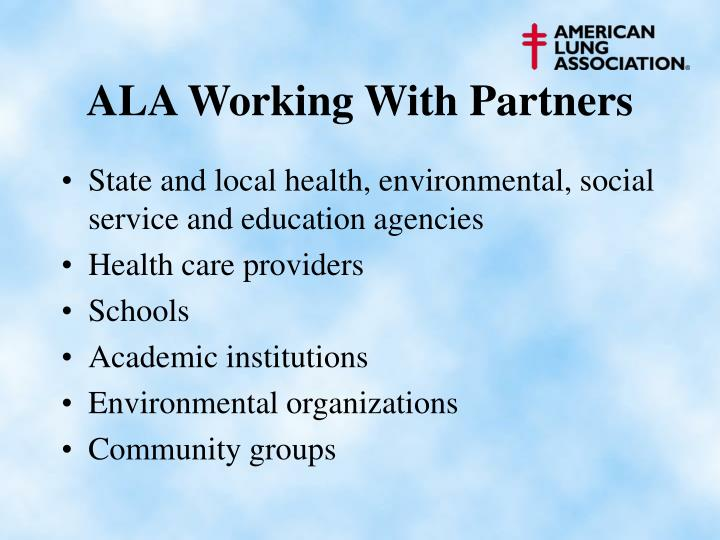 ALA Working With Partners