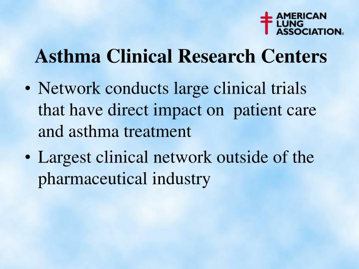 Asthma Clinical Research Centers